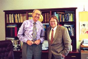 Dr. Gilbert Levin with Barry E. DiGregorio